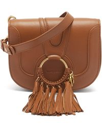 See By Chloé See By Chloé ハナ レザークロスボディバッグ - ブラウン