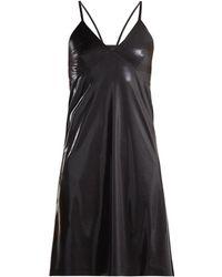 Norma Kamali - V-neck Metallic Slip Dress - Lyst