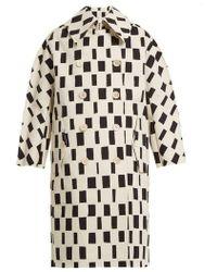 Junya Watanabe - Rectangle-print Point-collar Cotton Coat - Lyst