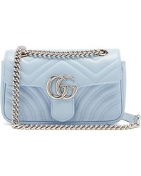 Gucci GG Marmont Small Shoulder Bag - Blue