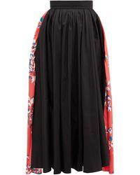 ROKSANDA Maia フローラルプリント タフタミディスカート - ブラック