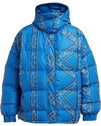 Ganni Foxworth Bandana Print Down Filled Jacket - Blue