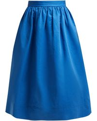 Marni High Rise Cotton Drill Midi Skirt