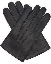 Dents Gants en cuir à technologie tactile Shaftesbury - Noir