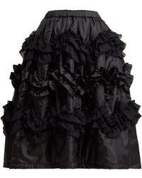 Comme des Garçons - Ruffled Shell Skirt - Lyst