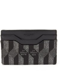 AU DEPART Metallic-jacquard And Leather Cardholder - Black