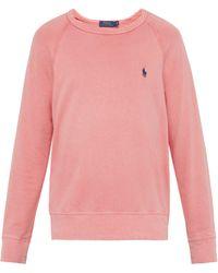 Polo Ralph Lauren - Logo Embroidered Cotton Terry Sweatshirt - Lyst