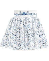 Agua by Agua Bendita Arandano Ruffled Floral-print Cotton Mini Skirt - Multicolor