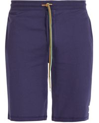 Paul Smith Cotton-jersey Pyjama Shorts - Blue