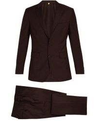 Burberry - Soho Single-breasted Wool-blend Suit - Lyst