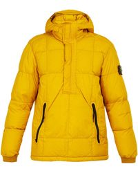Stone Island - Down-quilted Hooded Coat - Lyst
