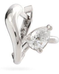 ALAN CROCETTI エイリアン ダイヤモンド 18kホワイトゴールドシングルピアス - マルチカラー