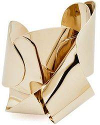 Proenza Schouler Metal Twisted Cuff - Metallic