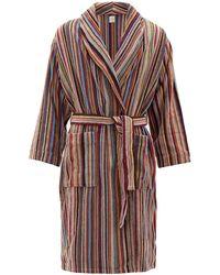 Paul Smith Cotton Towelling Signature Stripe Robe - Multicolore