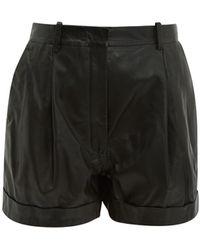 Altuzarra Goldmine High-rise Leather Shorts - Black