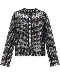 Givenchy 4gギピュールレース ウールブレンドジャケット - ブラック