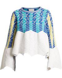 Peter Pilotto - Striped Jacquard Cotton Sweater - Lyst