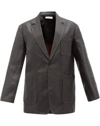 Our Legacy Tavern Dyed Silk Suit Jacket - Grey