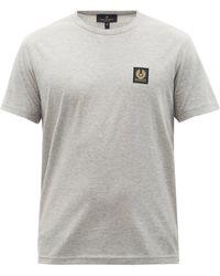 Belstaff Logo-patch Cotton-jersey T-shirt - Grey