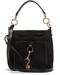 See By Chloé Tony Medium Leather Bucket Bag - Black