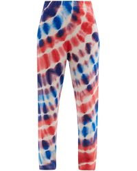 The Elder Statesman Radiate Surf Tie-dye Cashmere Track Trousers - Multicolour