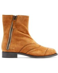 Chloé - Lexie Suede Ankle Boots - Lyst