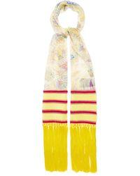 Etro Foulard en georgette de soie à motif cachemire - Multicolore