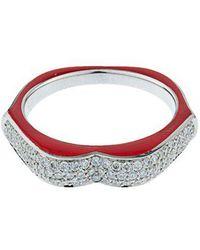 Raphaele Canot - - Omg! Diamond, Enamel & White Gold Ring - Womens - Red - Lyst