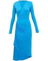 Atlein ストレッチジャージー ラップドレス - ブルー