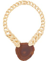 Zimmermann Agate & Gold-plated Chain Necklace - Metallic