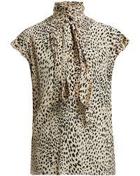 Haider Ackermann - Viola Leopard-print Silk Blouse - Lyst