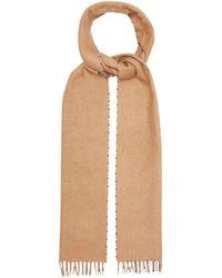 Prada Foulard en soie mélangée à carreaux - Neutre