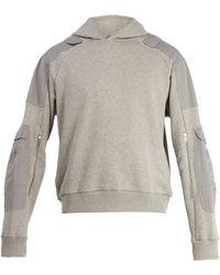 GmbH Marlon Hooded Cotton Sweatshirt - Grey