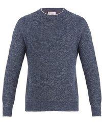 Brunello Cucinelli - Crew-neck Cotton-melange Sweatshirt - Lyst
