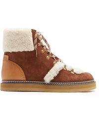 See By Chloé - Brown Lace-up Ski Boots - Lyst