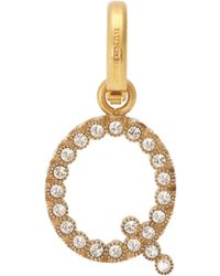 Burberry - Q Crystal Embellished Letter Charm - Lyst