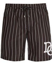 Dolce & Gabbana - D & G Varsity Stripe Logo Swim Shorts - Lyst