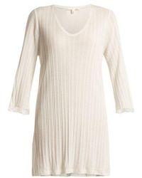 Skin - Lace-cuff Cotton Nightdress - Lyst