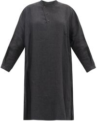 Toogood The Artist Washed-linen Tunic Shirt - Black