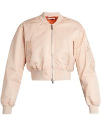 Givenchy - Cropped Twill Bomber Jacket - Lyst