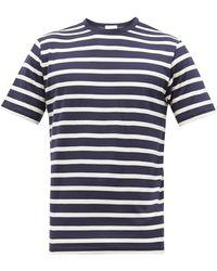 Sunspel Striped Cotton-jersey T-shirt - Blue