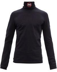 Vetements No Mainstream-print Cotton Long-sleeve T-shirt - Black