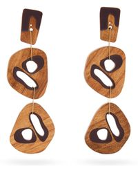 ROKSANDA - Cut Out Wood Drop Earrings - Lyst