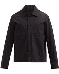 Craig Green パッチポケット コットンポプリンシャツ - ブラック