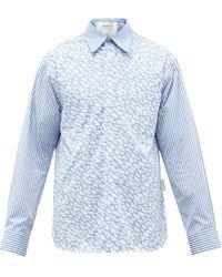 Marni クラウド コットンポプリンシャツ - ブルー
