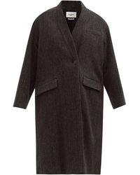 Étoile Isabel Marant Henlo Herringbone-wool Coat - Black