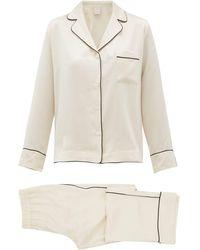 Morpho + Luna Colette Silk Charmeuse Pajamas - Natural