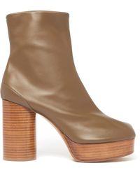 Maison Margiela Tabi Split-toe Leather Ankle Boots - Multicolour