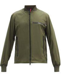 Moncler Leos Logo-print Satin-shell Bomber Jacket - Green