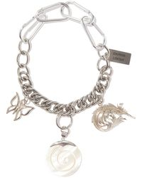 Chopova Lowena Mother-of-pearl Charm Stainless Steel Necklace - Metallic